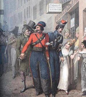 Казаки в Париже в 1814 году. Акварели Георга-Эммануэля Опица