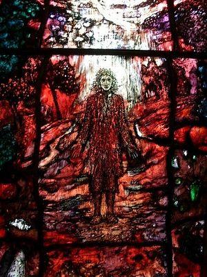 Один из витражей, посвященных Томасу Трахерну в часовне Одли кафедрального собора в Херефорде