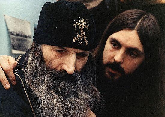 Схиигумен Мелхиседек и послушник Георгий Гашев. Фото: архимандрит Тихон (Шевкунов)