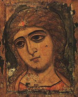 Archangel Gabriel, Byzantine icon, Tretyakov Gallery