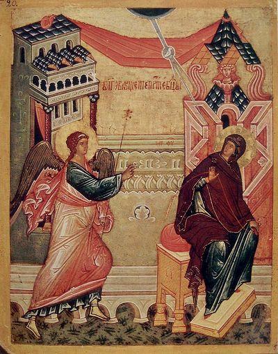 Благовещение. Новгородская таблетка, XVI в.