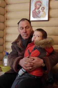 Владимир Королёв с внуком