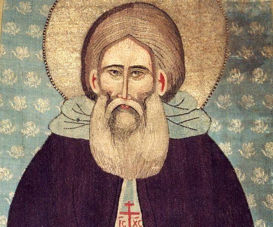 Шитый покров 1-й четверти XV века – одно из наиболее ранних изображений святого. Православие.Ru