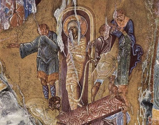 Resurrection of Lazarus. 15th century, Greece