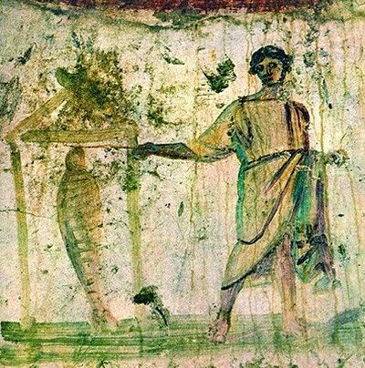 Fresco catacombs Peter and Marcellinus. Second half of the III - the first half of the IV century. Rome