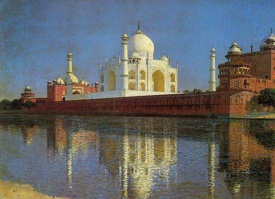 Мавзолей Тадж-Махал в Акре.1876