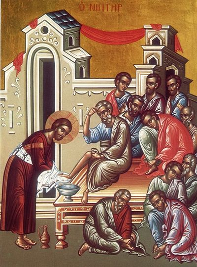 Icon of the washing of the feet