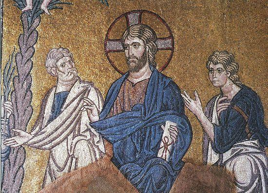 Вход Господень в Иерусалим. Византия. XI в. Греция. Афины, монастырь Дафни