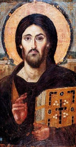 Христос Пантократор. Синай, VI в.
