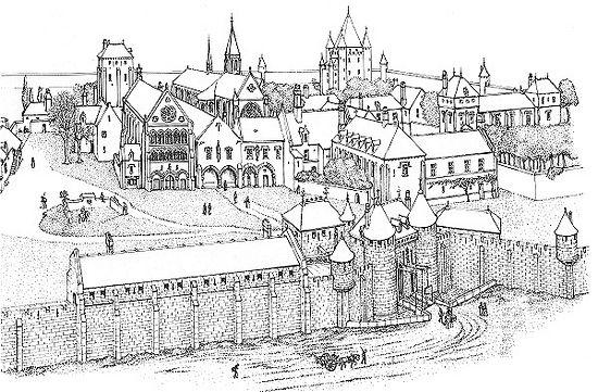 Реконструкция Тампля в Париже - крупнейшего командорства ордена в Европе