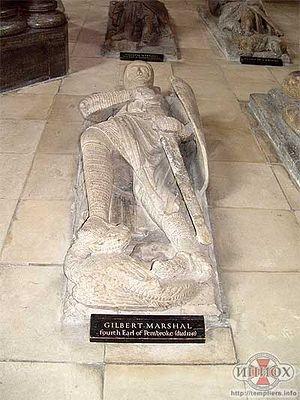 Гилберт Маршалл - четвертый граф Пемброк, (ум. 1241). Церковь Темпла в Лондоне (Англия)