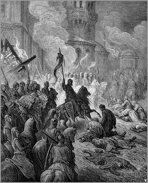 Вступление крестоносцев в Константинополь 13 апреля 1204 г. Гравюра Г. Доре
