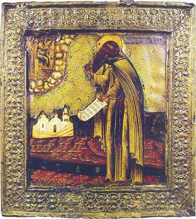 Преподобный Пафнутий Боровский (1394-1477). Икона XVIII в.