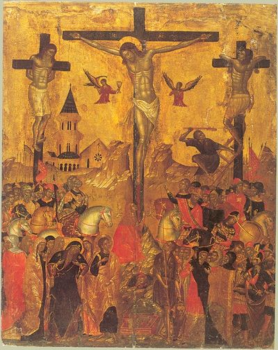 Emanuel Lampardos. Crucifixion. Cretan School. The second quarter of the XVII century.