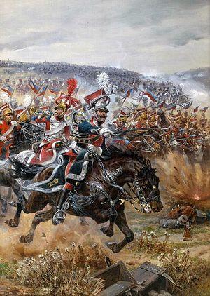 Ричард Кейтон Вудвиль. «Последняя атака Понятовского при Лейпциге», 1912