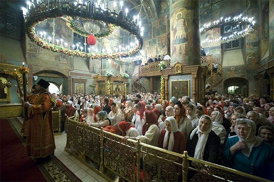 Pascha Services, Sretensky Monastery, Moscow.