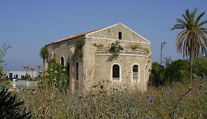 The church at al-Bassa, as pictured in 2008. Photo via Wikipedia commons.