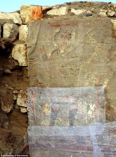 The image of Christ believed painted by early Coptic Christians.