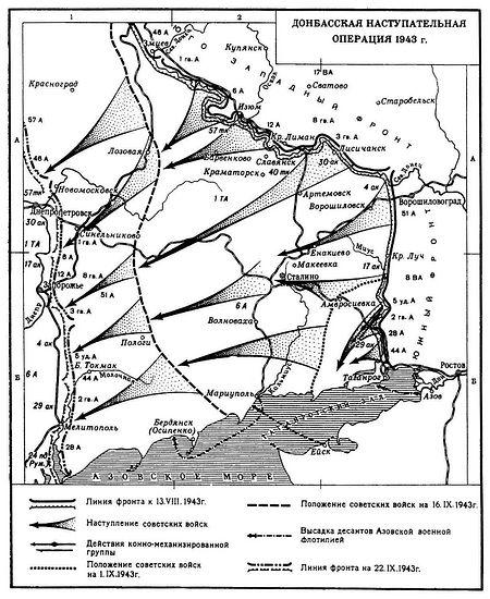 Донбасская наступательная операция. 1943 г.