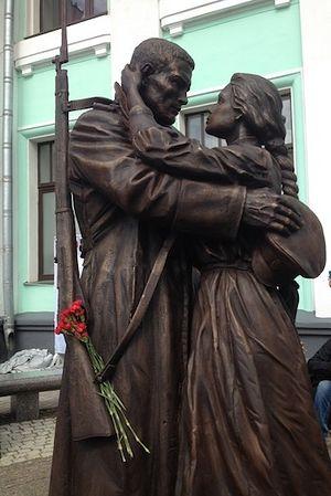 Монумент прощание славянки открыли