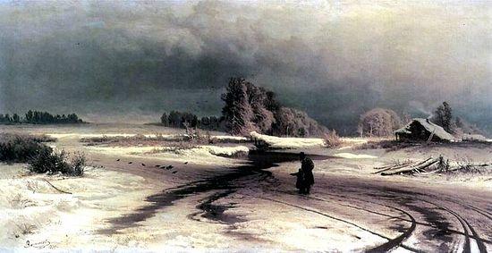 Картины Васильева «Оттепель»