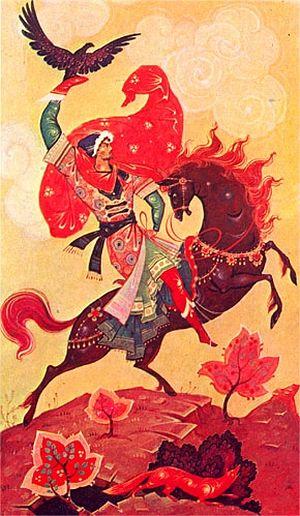 Белов В.А. Панно «Сокольничий», 1972 год