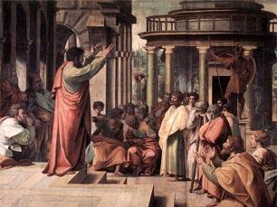 Рафаэль. Проповедь апостола Павла в Афинах