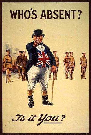Изображение 'Джона Булла' в период Первой мировой войны