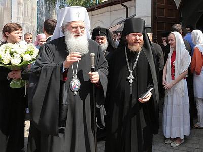 Болгарский Патриарх в Сретенском монастыре