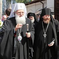 Болгарский Патриарх Неофит в Сретенском монастыре