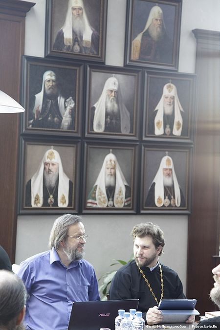 Роман Михайлович Конь, кандидат богословия, и протоиерей Андрей Рахновский, кандидат богословия