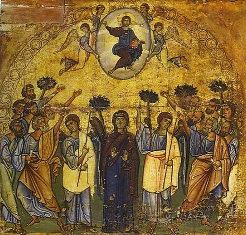 Вознесение Господне. Византийская икона XII в. Синай, монастырь св.Екатерины