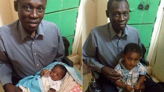 Даниэль Вани посетил своих детей в среду в тюрьме близ Хартума
