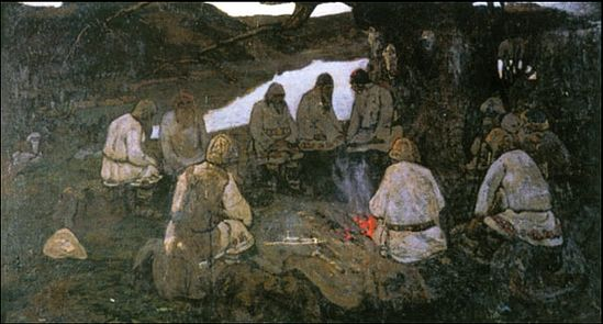 Н.К.Рерих. «Сходятся старцы»