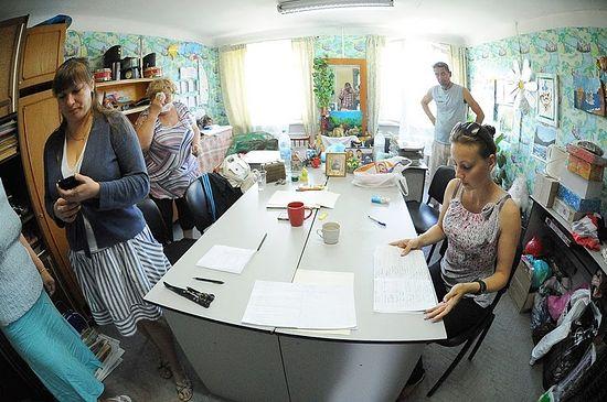 Штаб приема беженцев с Юго-Востока Украины. Фото Егор Комаров / Севастопольская газета