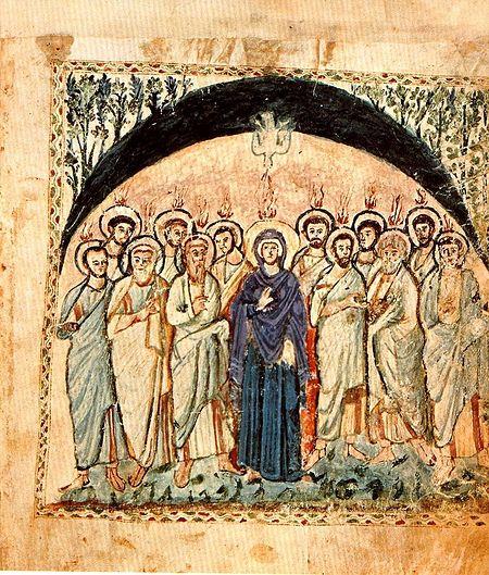 Сошествие Святого Духа (Евангелие Рабулы, VI век)