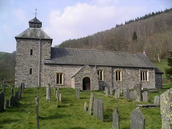 Church of St. Melangell in Pennant Melangell, Powys, Wales