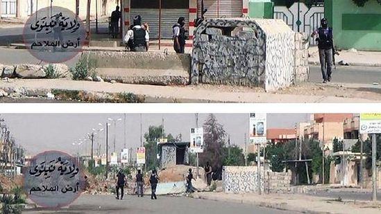 Боевики на улицах Мосула