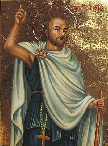 Icon of St. Petroc by Jivko Donkov