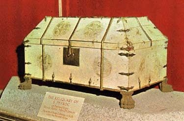 St. Petroc's reliquary inside the Bodmin Church