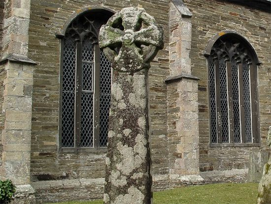Ancient Cross in Churchyard, St. Petroc's Church, Padstow