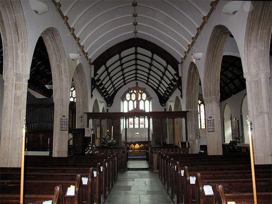 Interior of St. Petroc's Church in Padstow