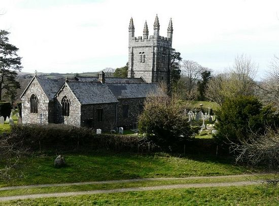St. Petroc's Church in Lydford, Devon