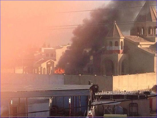 St. Etchmiadzin Armenian church following attacks by ISIS.
