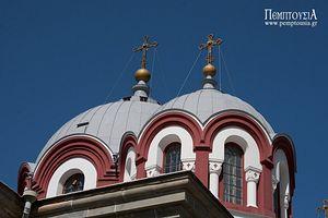 Идя ко входу монастыря Григориат