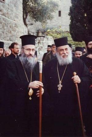 Митрополит Иерофей и о. Георгий Капсанис