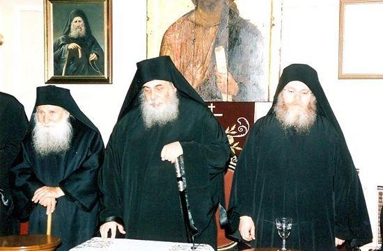 Иосиф Ватопедский, Георгий Капсанис и Ефрем Ватопедский