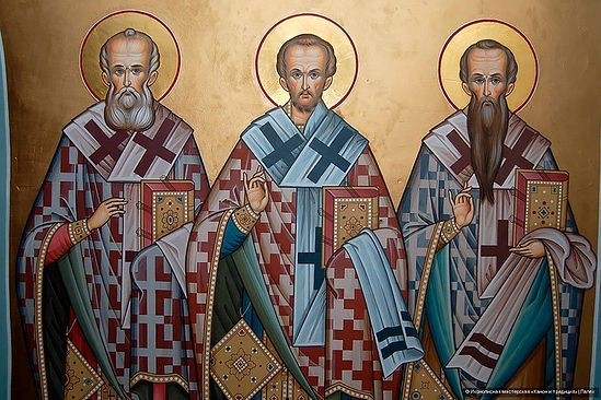 Святители Григорий Богослов, Иоанн Златоуст, Василий Великий