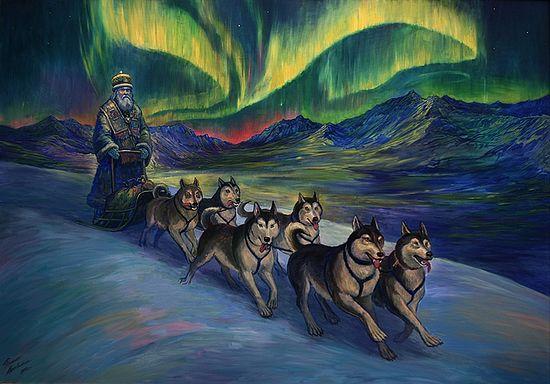 """Филипп Москвитин """" Святитель Иннокентий (Вениаминов) на Аляске"""" (2013 год. Холст, масло) из цикла """"Русские апостолы и их подвиги"""""""
