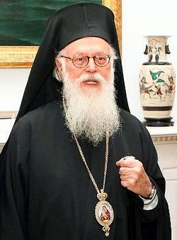 Anastasios, the archbishop of Tirana and the primate of the Autocephalous Albanian Orthodox Church.